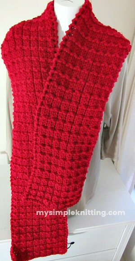 Waffle Super Scarf Knitting Pattern