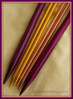 Knitting needle sizes