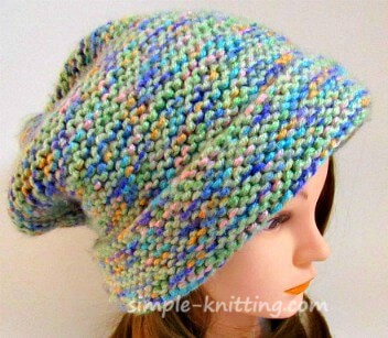Garter stitch hat pattern