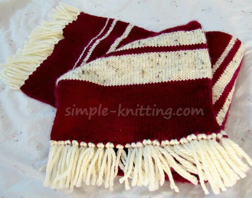 Easy Knitting Patterns Knit Scarf