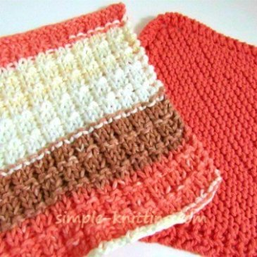 Dishcloth knitting patterns are fun and easy knitting