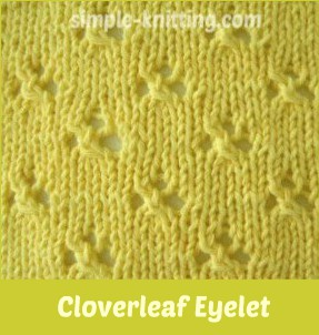 Cloverleaf eyelet stitch pattern