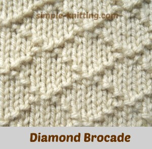 Diamond brocade stitch pattern