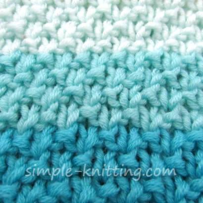 Dot stitch pattern for marina cowl pattern