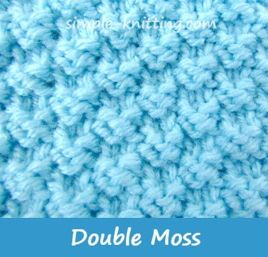 Double Moss Stitch Pattern