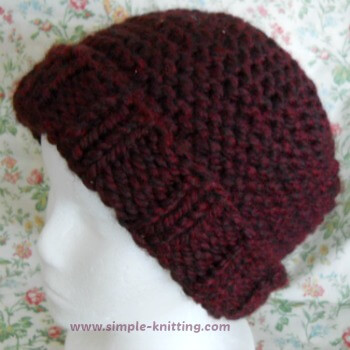 Easy Knit Hat Pattern Inspiration Simple Knit Hat Pattern