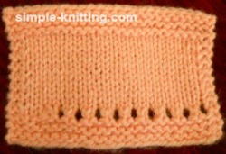 Tips for knitting gauge swatch