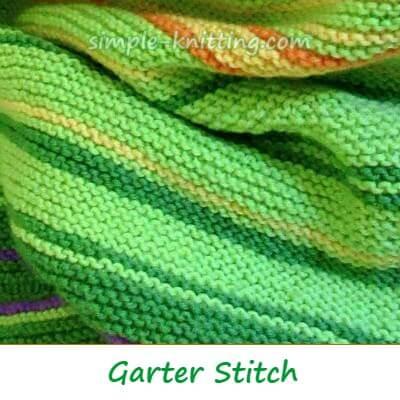 Knitting Stitch Patterns, Garter Stitch