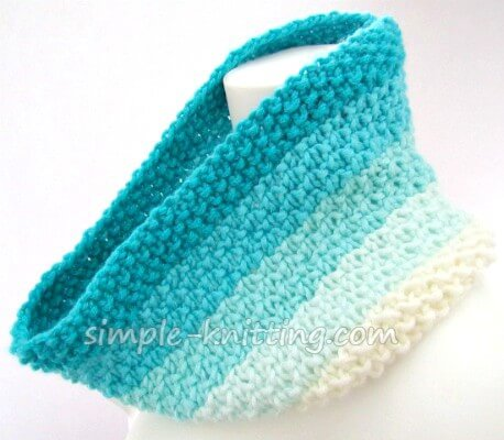 Marina cowl knitting pattern