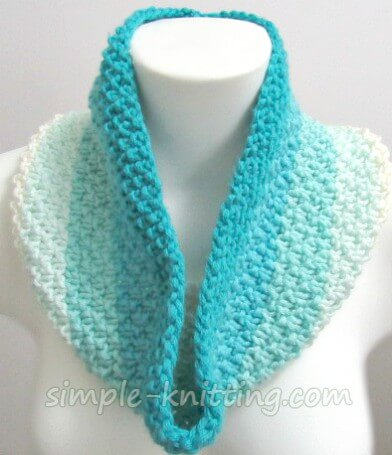 Easy knitting patterns - knit cowl