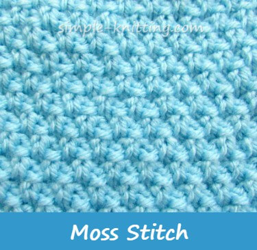 Seed Stitch And Moss Stitch Pretty Stitch Variations