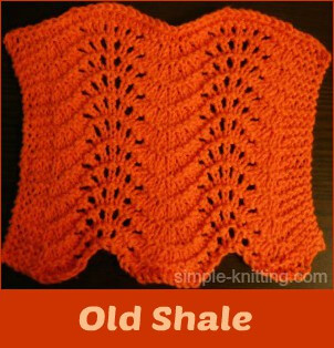 7e0db160ce37 Old Shale Stitch Pattern Or Feather And Fan