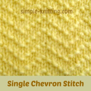 Sngle chevron stitch
