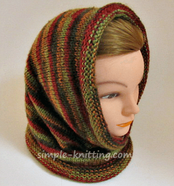 Hooded Cowl Knitting Pattern