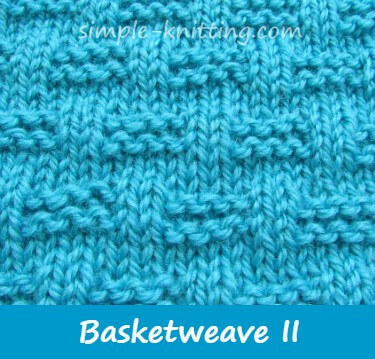 Basket weave stitch pattern variation