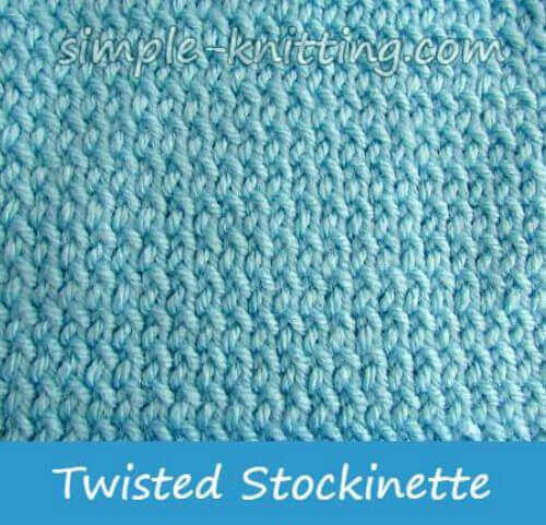 Twisted Stockinette