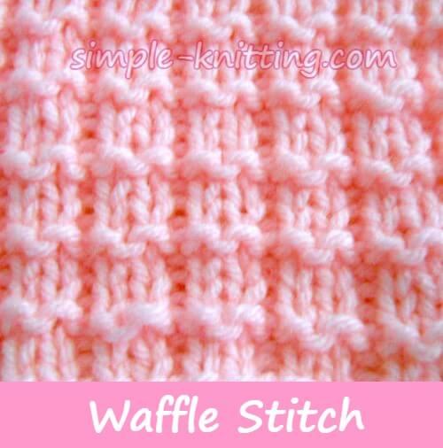 Waffle Stitch Pattern - Simple Knit And Purl Stitches