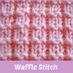 waffle stitch pattern simple knit and purl stitches