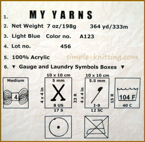 How to Read Yarn Labels - Easy Knitting Lesson