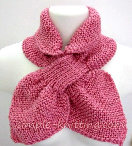 Easy Knitting Patterns - Ascot Scarf Pattern