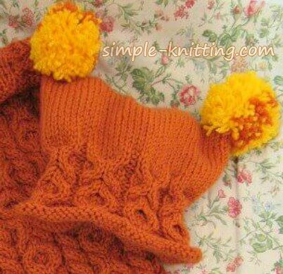 Baby sleep sack matching baby hat pattern
