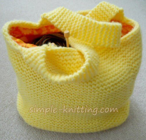Easy Knitting Patterns - Big Ol Knitting Bag