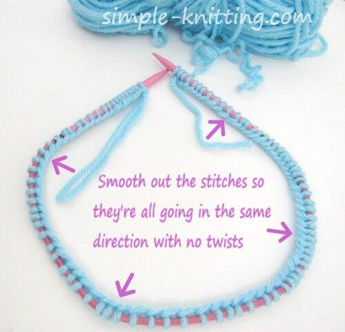 Knit scarf cast on