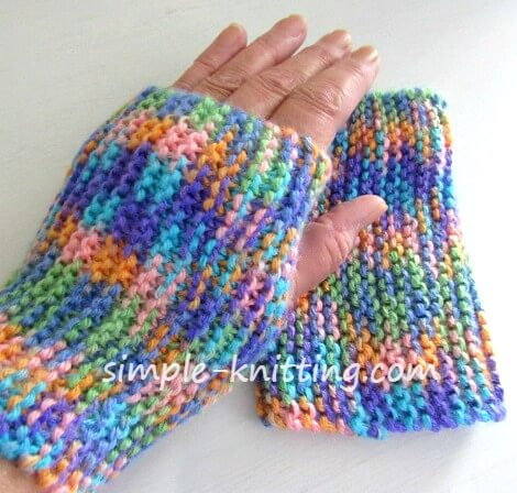 Fingerless Mittens Beginner Knitting Pattern