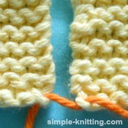 seaming garter stitch