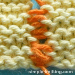 Seam knit garter stitch