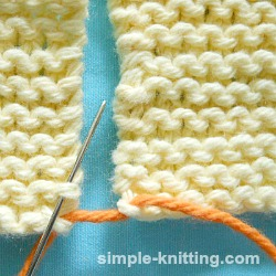 seaming garter stitch
