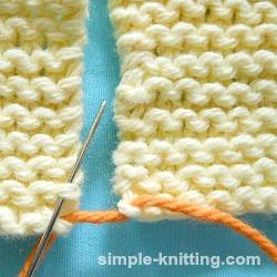 How to seam knit garter stitch