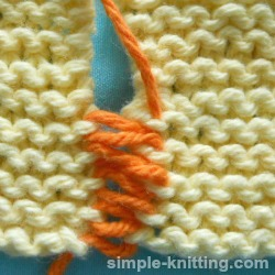How to seam knit garter stitch
