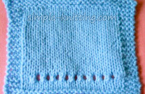 Knitting Tips - Gauge Swatch With Holes For Needle Size