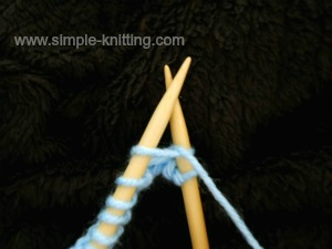 How to knit an increase
