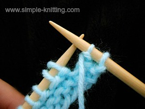 Knitting a decrease purlwise
