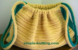 Knitted Bag Patterns For Beginners : Knitted Bag - Beginners Knitting Pattern