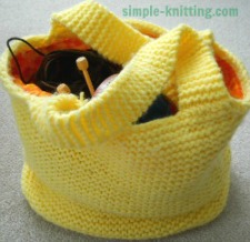 Knitted Bag Patterns For Beginners : Easy Knitting Patterns for Beginners -- Quick Knits for All Knitters