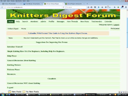 Knitting Forum
