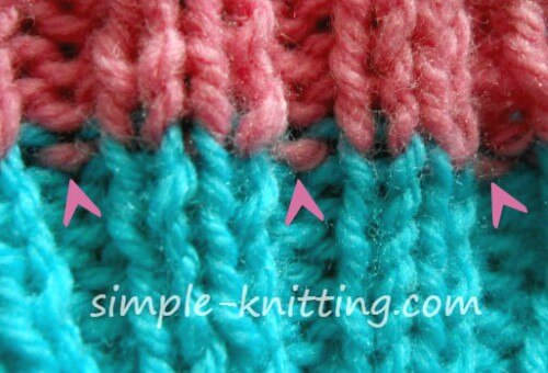 Knitting Tips - Clean look rib stitches is easy to create.