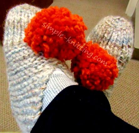 My knitted slippers