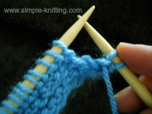 How to knit increases purlwise