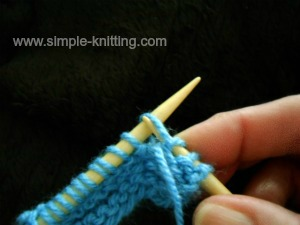 increasing stitches purlwise