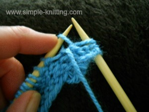 Knitting increases purlwise