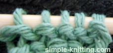 Identifying knit and purl stitches