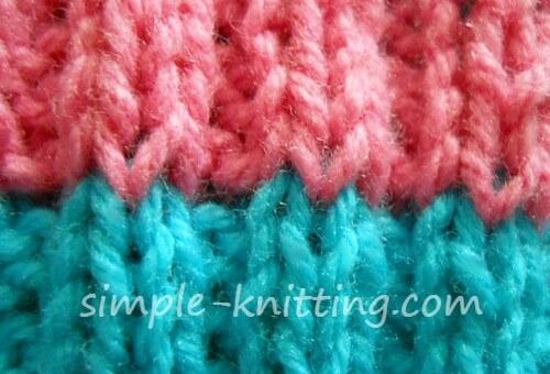 Knitting Tips - Clean stripes when you knit rib