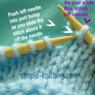 How to unknit stitches