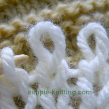 Twisted knit stitch