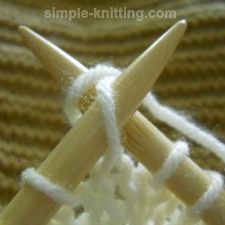 How to fix twisted knit stitch