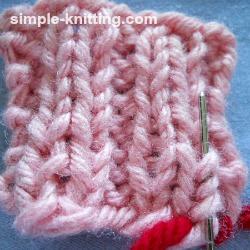 Weave in yarn tails in ribbing
